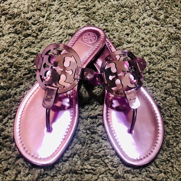 ba91fab92 Tory Burch Shoes | Miller Metallic Flat Slide Sandal | Poshmark